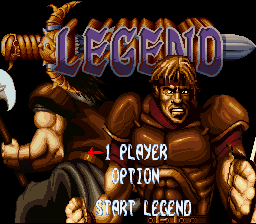 Legend  SNES Title screen