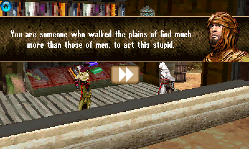 Assassin's Creed: Altaïr's Chronicles Windows Mobile Talking to an NPC