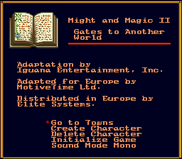 Might and Magic II: Gates to Another World SNES Developer info