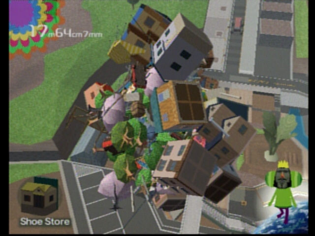 Katamari Damacy PlayStation 2 ...and buildings...