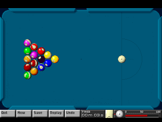 Arcade Pool DOS Trickshot (another type of the game)