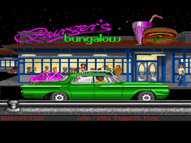 Street Rod 2: The Next Generation Amiga Arrived at Burger's Bungalow