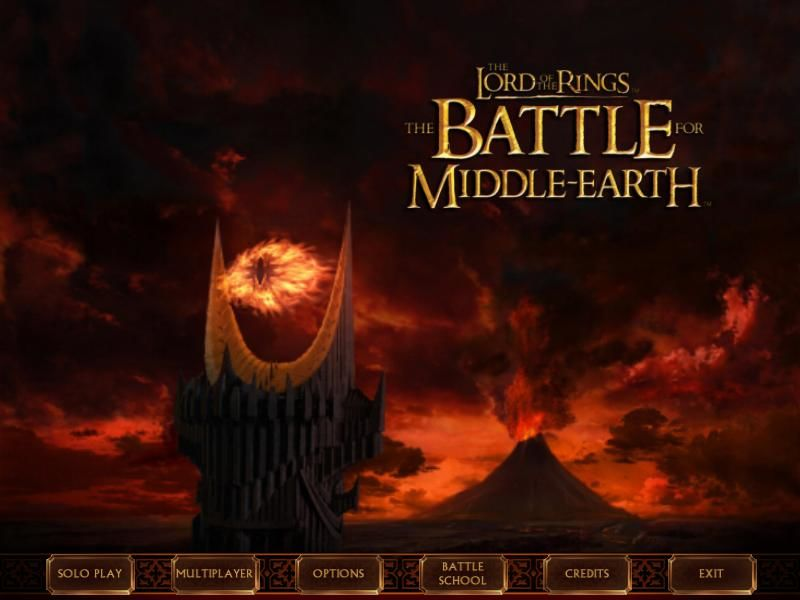 The Lord of the Rings: The Battle for Middle-Earth Windows Main Menu