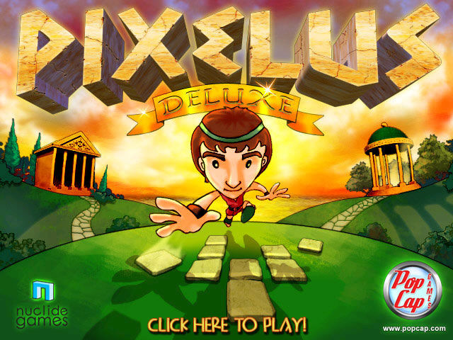 Pixelus Deluxe Windows Title screen