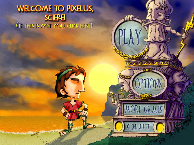Pixelus Deluxe Windows Main options screen