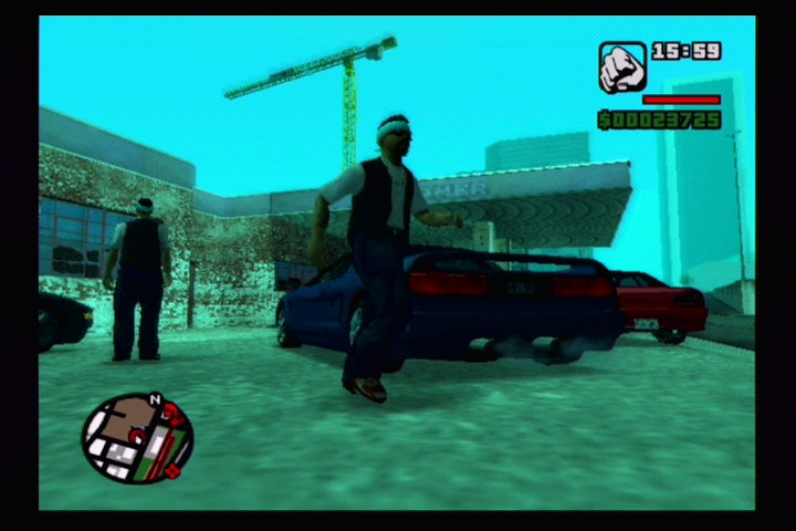 Grand Theft Auto: San Andreas PlayStation 2 The car's booby trapped! RUN!!!
