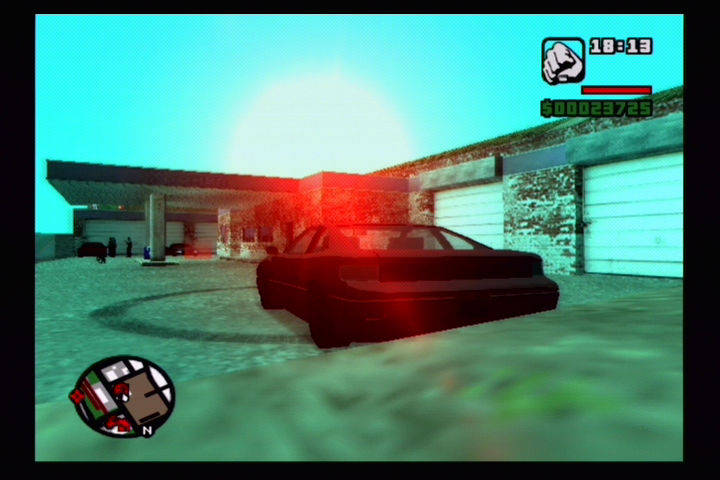 Grand Theft Auto: San Andreas PlayStation 2 Doing 360's