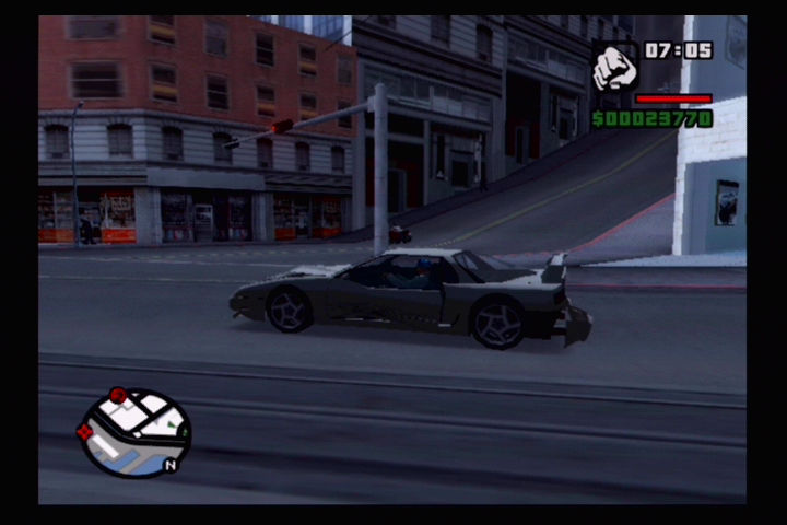 Grand Theft Auto: San Andreas PlayStation 2 Trashed car