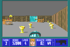 Wolfenstein 3D Game Boy Advance Pick up treasures to increase your score.