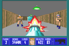 Wolfenstein 3D Game Boy Advance The chaingun is the most powerful weapon.