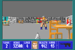 Wolfenstein 3D Game Boy Advance The machine gun is a well-balanced weapon.