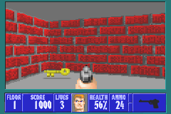 Wolfenstein 3D Game Boy Advance Keys enable you to access to secured areas.
