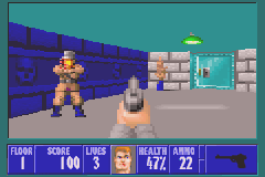 Wolfenstein 3D Game Boy Advance The gun is a slow weapon, just good enough for the first level.