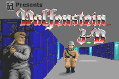 Wolfenstein 3D Game Boy Advance Title screen