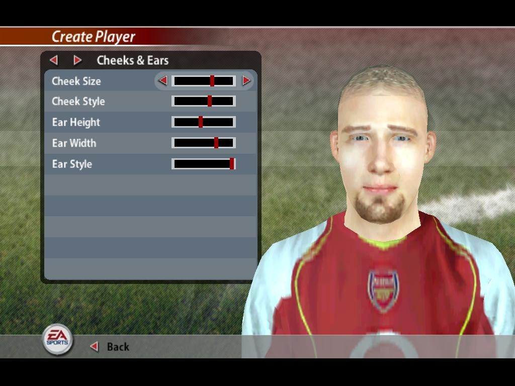 FIFA Soccer 2005 Windows Create your own players
