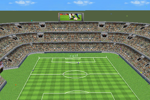 Real Soccer 2009 Android Bird's view of the stadium