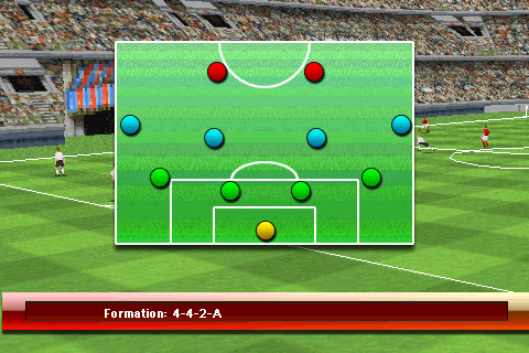 Real Soccer 2009 Android Tday's formations