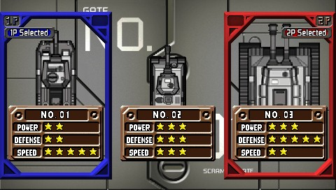 Charge! Tank Squad! PSP Tank selection