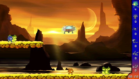 Beam 'Em Up PSP Gameplay from the first level