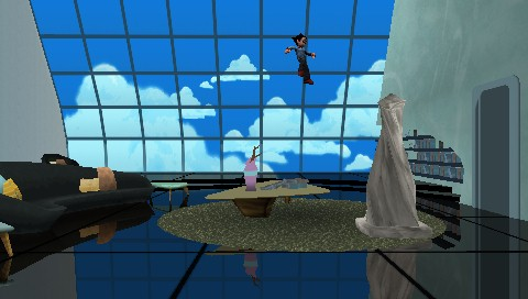 Astro Boy: The Video Game PSP Playing one of the early levels in the Story mode