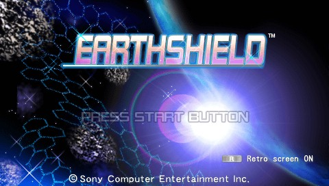 Earthshield PSP Title screen