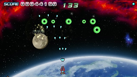Earthshield PSP The circles position themselves in a formation and then attack.