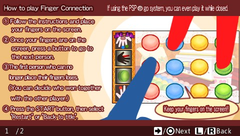 Finger Connection PSP Instructions