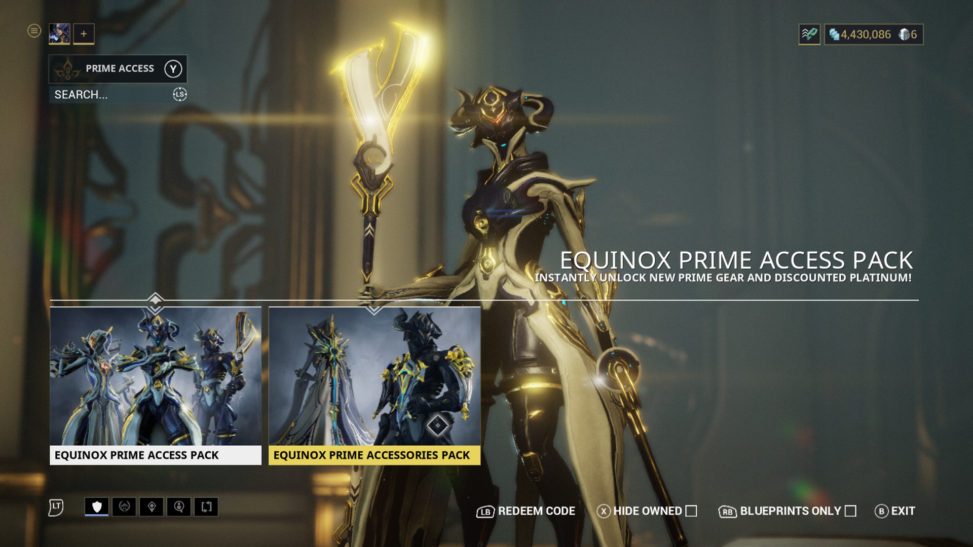 Warframe: Equinox Prime Access - Accessories Pack