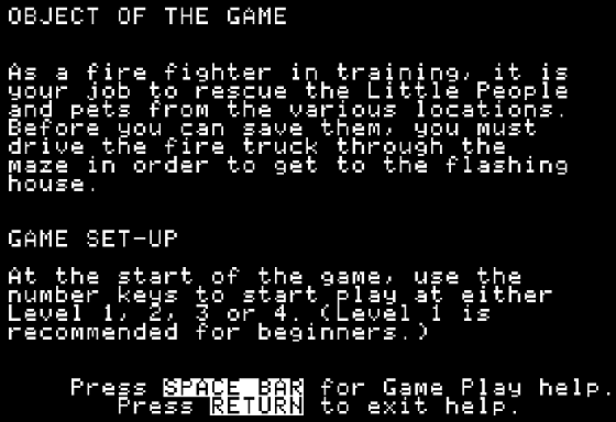 Fisher-Price Firehouse Rescue Screenshots for Apple II - MobyGames