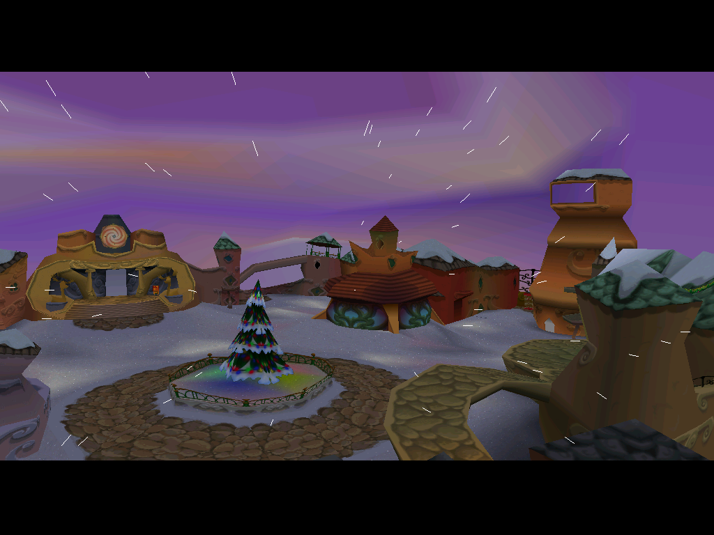 A view of Downtown Whoville.
