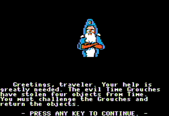 The Cave of Time Apple II Introduction