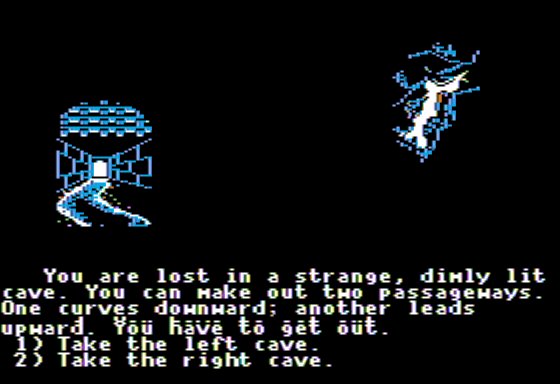 The Cave of Time Apple II Select Your Path
