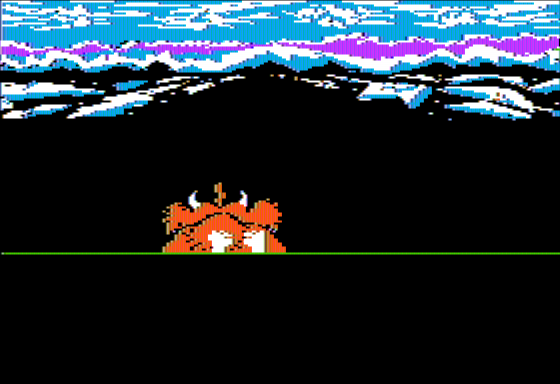 The Cave of Time Apple II Riding the Mammoth