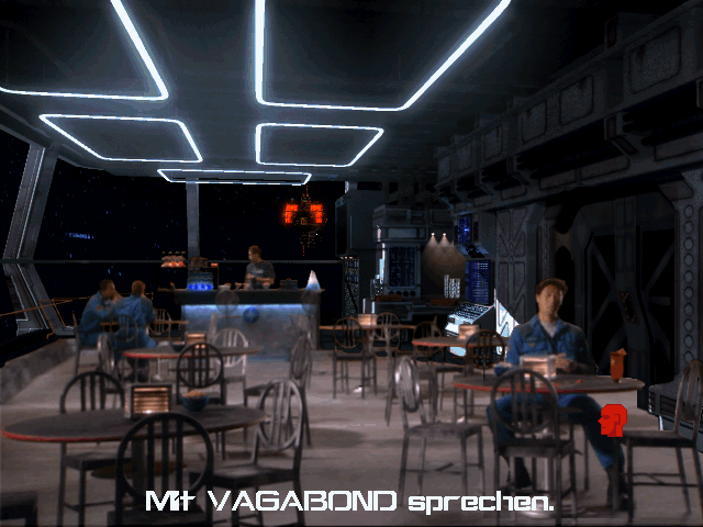 "Wing Commander III: Heart of the Tiger DOS We meet ""Vagabond"" at the locker room"