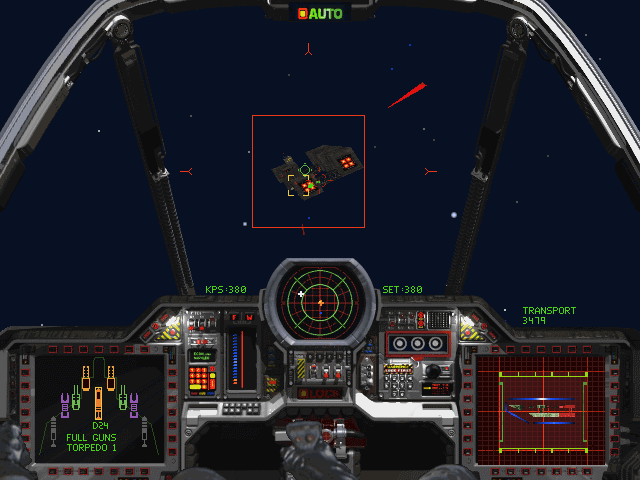 Wing Commander III: Heart of the Tiger DOS Transport ships without escort became a easy booty