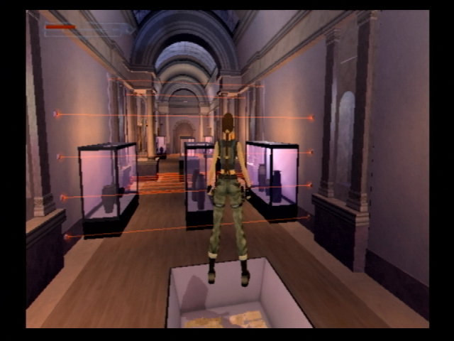 Lara Croft: Tomb Raider - The Angel of Darkness PlayStation 2 Any respectable art museum should have a laser security system to get past...