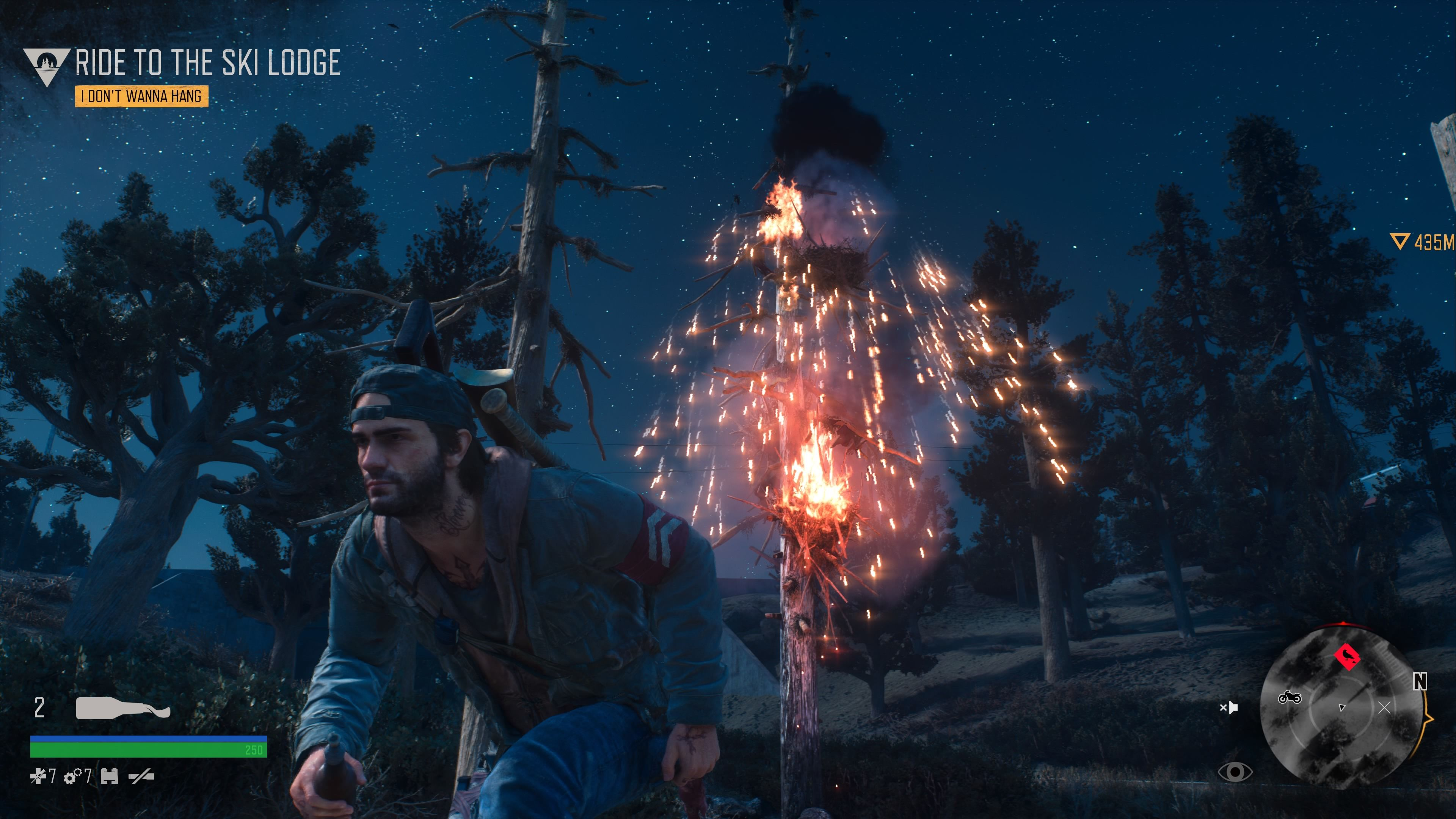 Days Gone PlayStation 4 Burning the infected crows' nest