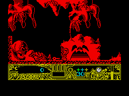 TwinWorld: Land of Vision ZX Spectrum In a cave