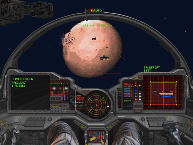 "Wing Commander III: Heart of the Tiger DOS Hunting transporters with the ""Excalibur"""