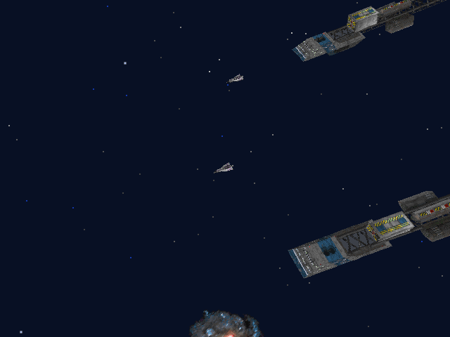 Wing Commander III: Heart of the Tiger DOS Escorting friendly cargo ships