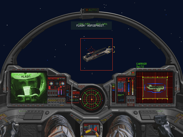 "Wing Commander III: Heart of the Tiger DOS Carrier in sight ... but the ""Arrow"" isn't the right ship for this job"