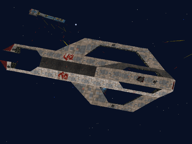 "Wing Commander III: Heart of the Tiger DOS The ""Ajax"" support us with this heavy cruiser"