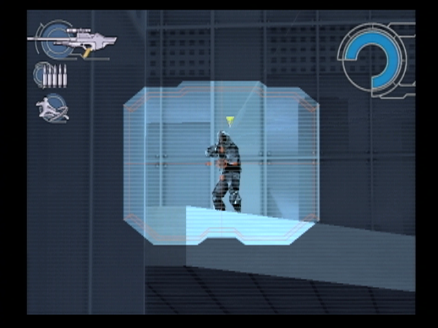 Ghost in the Shell: Stand Alone Complex PlayStation 2 Using the sniper rifle to take out a sniper