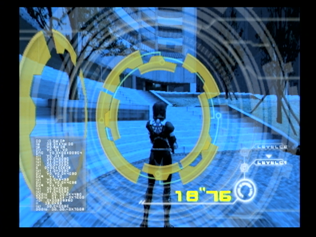 Ghost in the Shell: Stand Alone Complex PlayStation 2 Line up the rings when attempting to hack