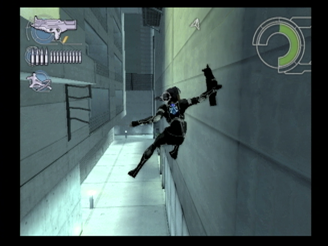 Ghost in the Shell: Stand Alone Complex PlayStation 2 Kusunagi can leap from wall to wall to reach new locations