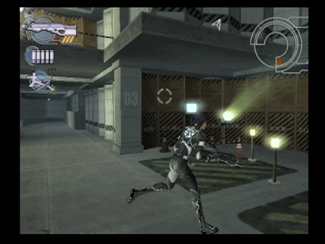 Ghost in the Shell: Stand Alone Complex PlayStation 2 Running for cover before an enemy gets another chance to fire...