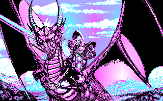 DragonStrike DOS Loading screen (CGA)