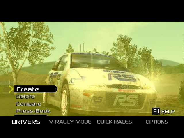 V-Rally 3 Windows Main menu