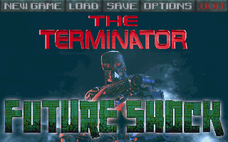 The Terminator: Future Shock DOS Main menu