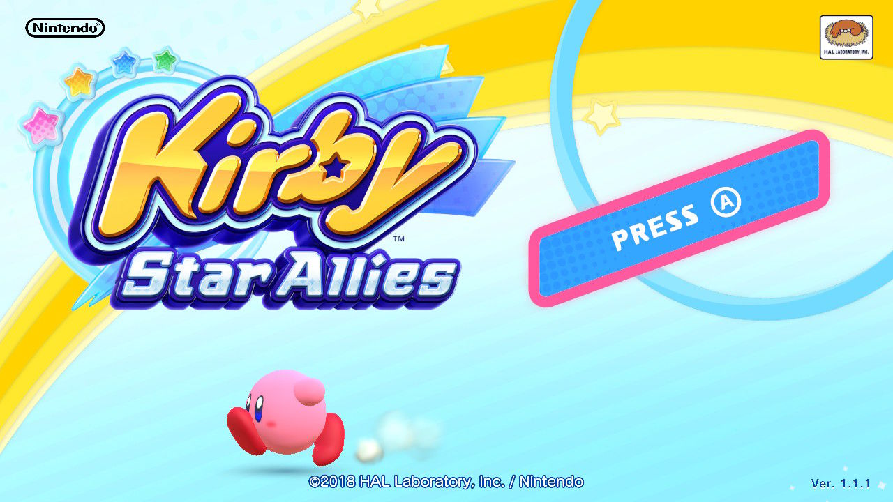 Kirby Star Allies Nintendo Switch Title screen